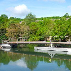 Passerelle flottante de Tison