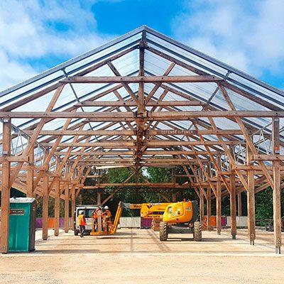 Rénovation d'une halle bois